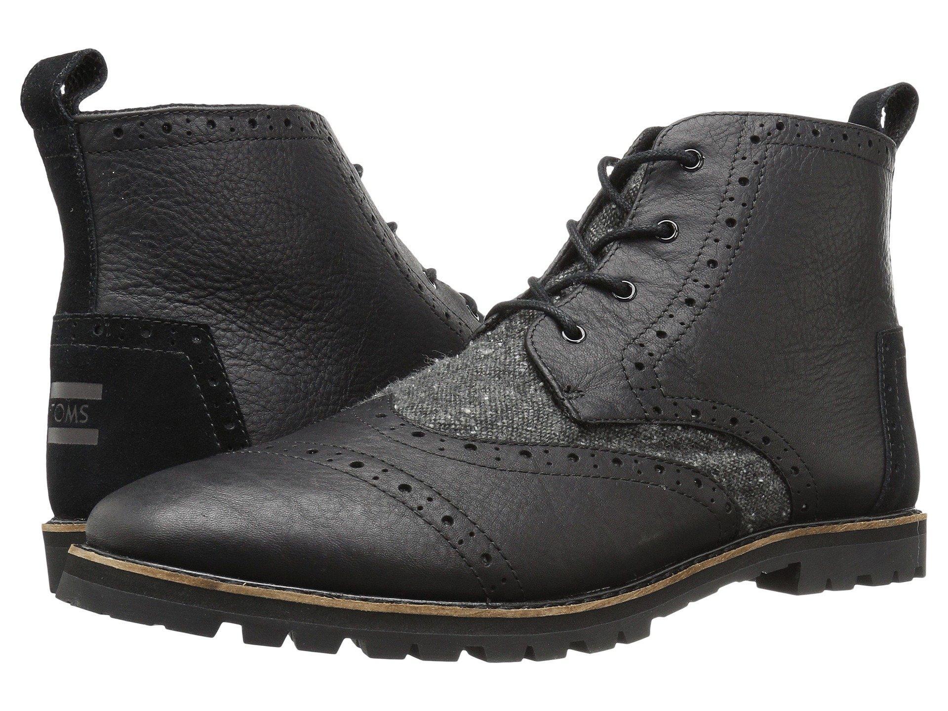 innovative design meet skate shoes Toms , Black Leather/charcoal Fleck   ModeSens