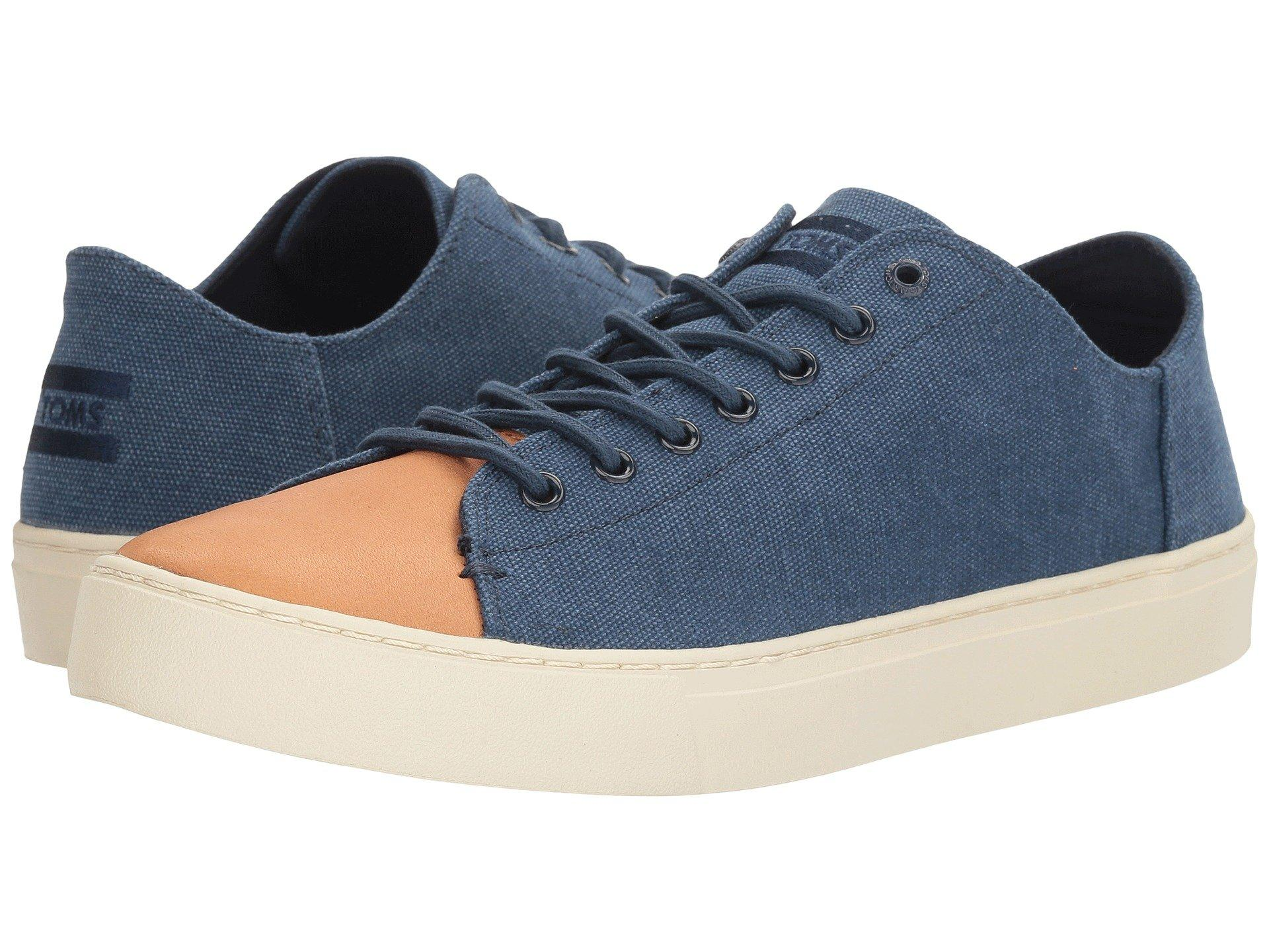 Toms , Navy Washed Canvas/Leather