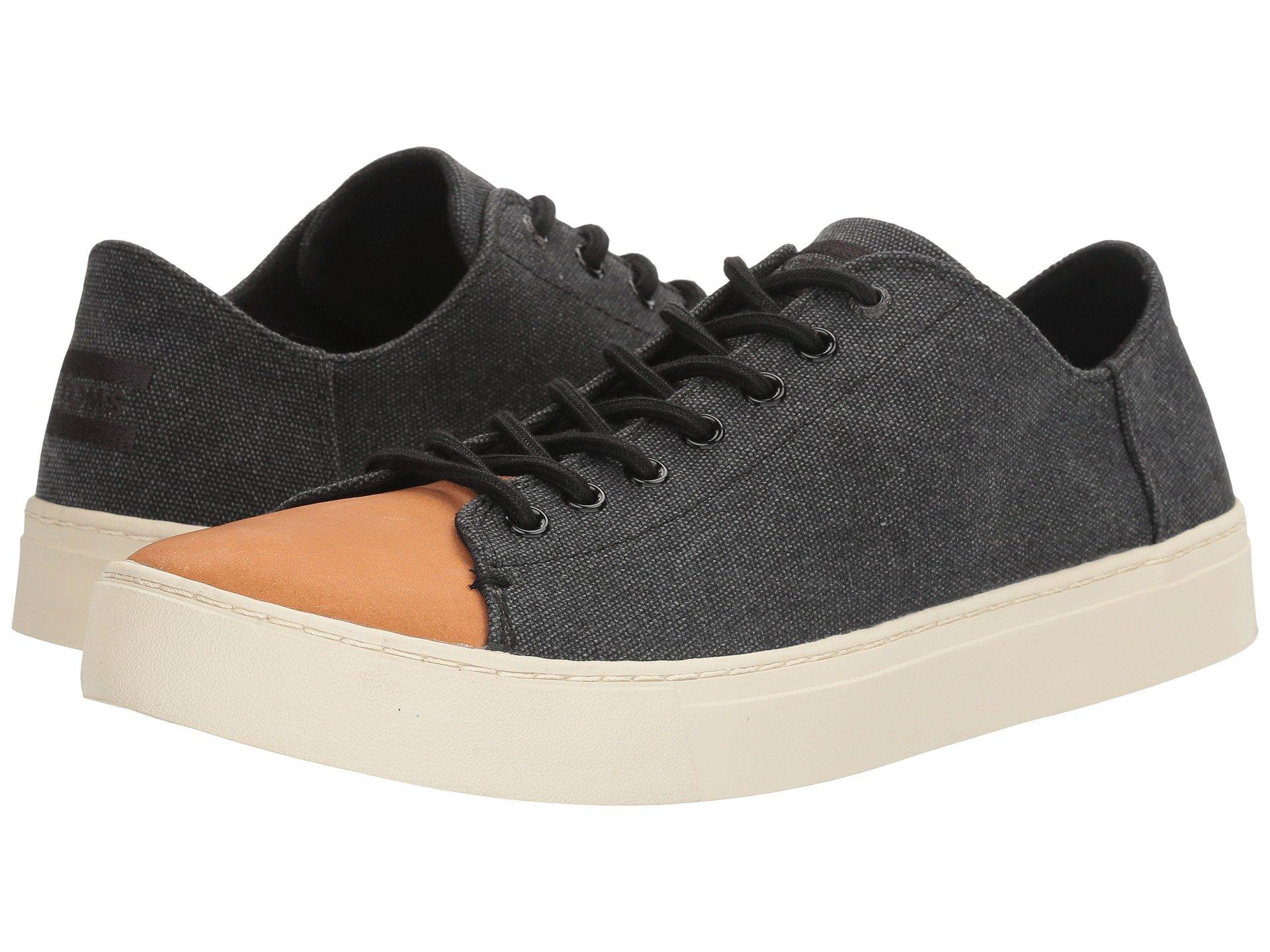 Toms , Black Washed Canvas/Leather
