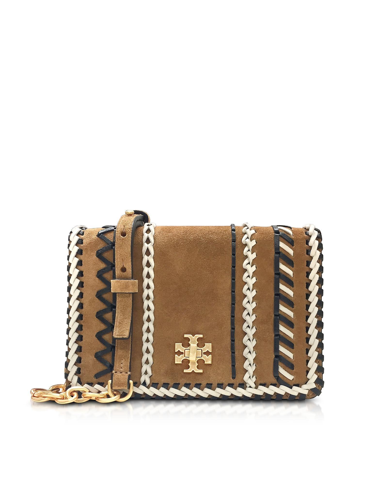 c89aaa1beacd Tory Burch Kira Whipstitch Hazel Suede Mini Crossbody Bag In Brown ...