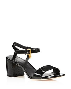 abe756e3a42df5 Tory Burch Women s Laurel Patent Leather Ankle Strap Sandals In Black