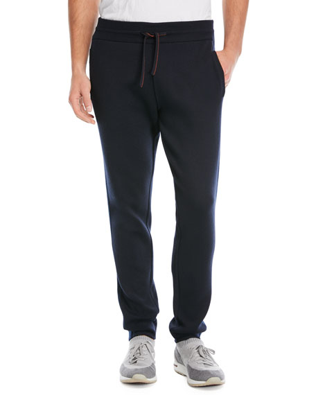 Loro Piana Cashmere Jogging Pants In Navy