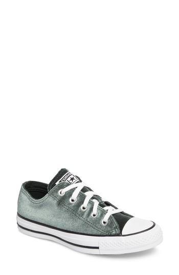 76ef3b8e7b61 Converse Chuck Taylor All Star Seasonal Ox Low Top Sneaker In Deep Emerald  Velvet