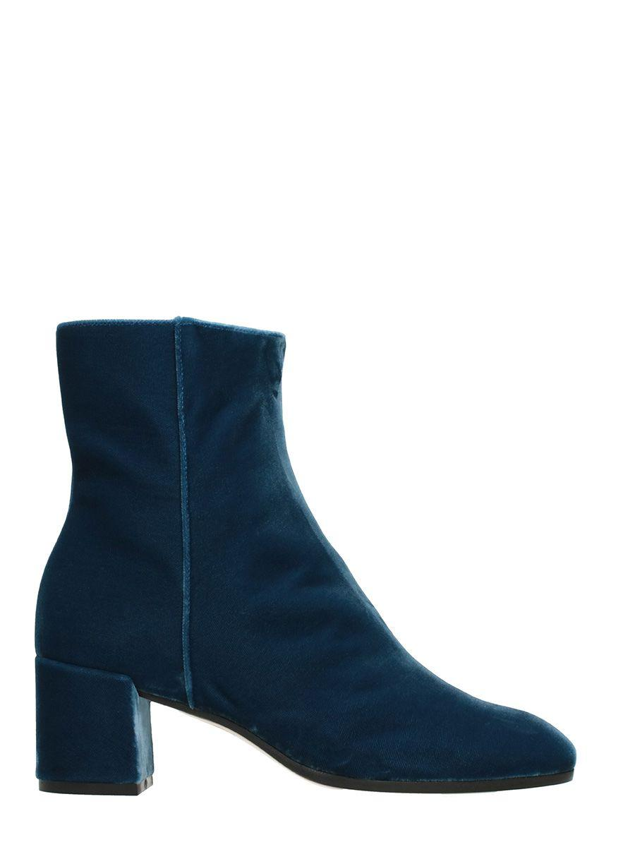 premium selection 615bd c6627 Blue Velvet Ankle Boots