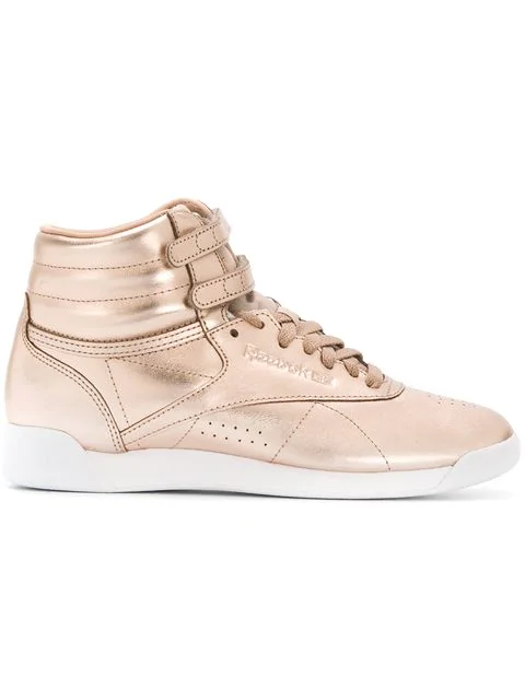 2d816776adc Reebok Women s Freestyle Hi Top Metallic Casual Sneakers From Finish Line