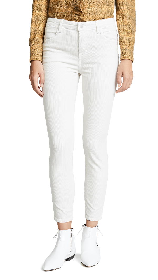 J Brand Alana High Rise Crop Skinny Pants In Moonbeam