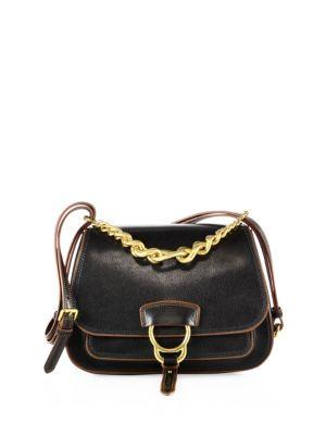 Miu Miu Medium Dahlia Madras Leather Shoulder Bag In Black