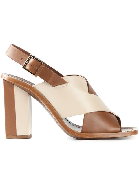 Tory Burch Sling Back Sandals In Beige