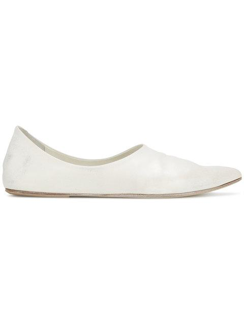 MarsÈLl Pointed Toe Ballerina Pumps - White