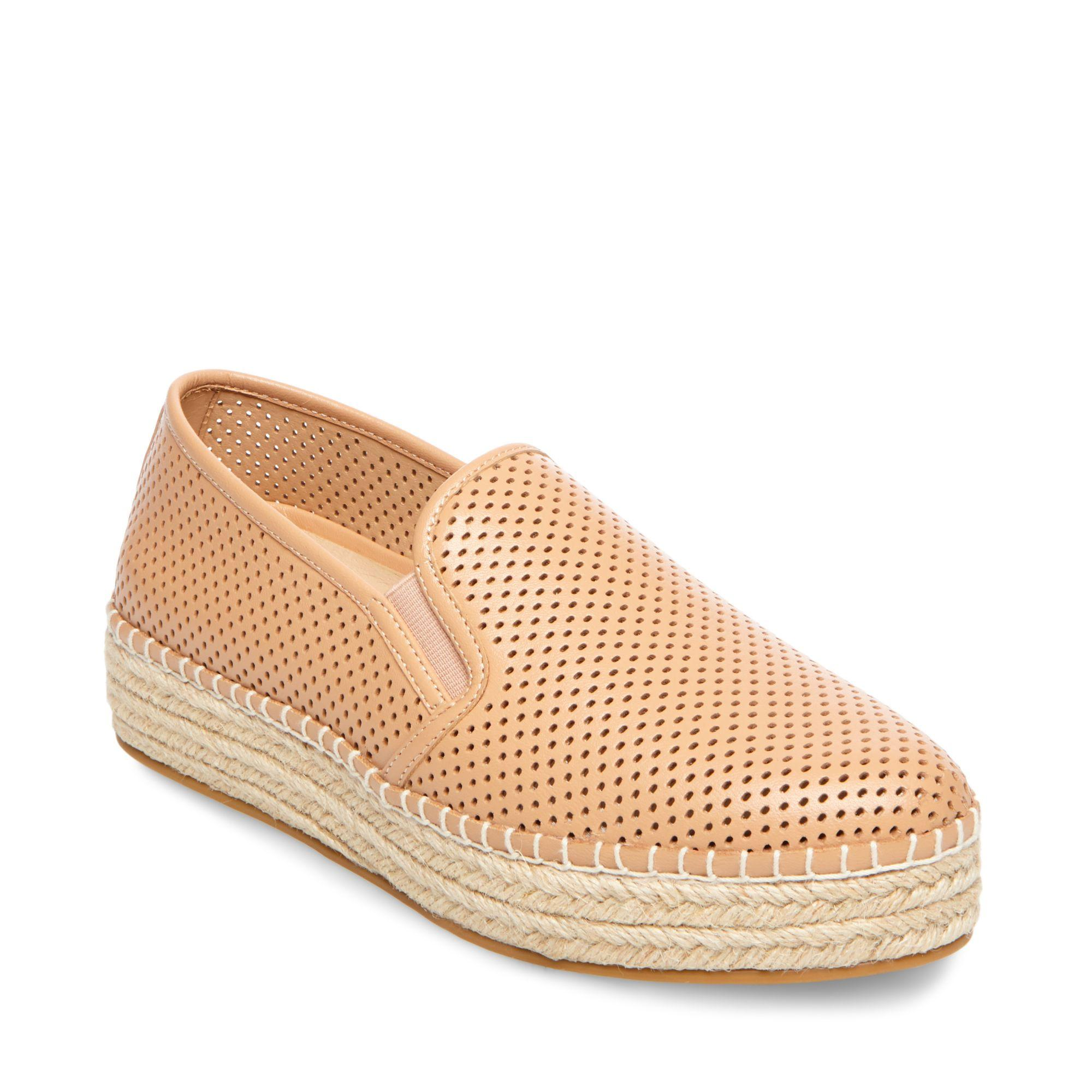 2bd0099bdbf STEVE MADDEN WRIGHT PERFORATED PLATFORM ESPADRILLE, GOLD LEATHER ...