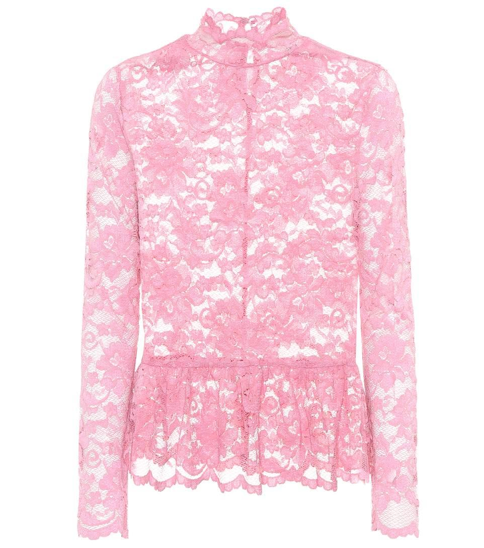ca46cacf Ganni Flynn Lace Top In Pink | ModeSens