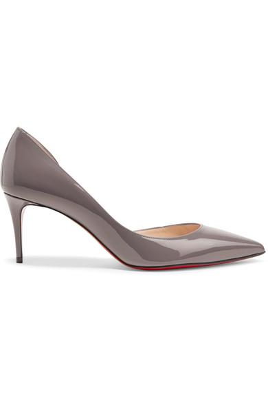 60b8e43cddf Christian Louboutin Iriza 70 Patent-Leather Pumps In Gray