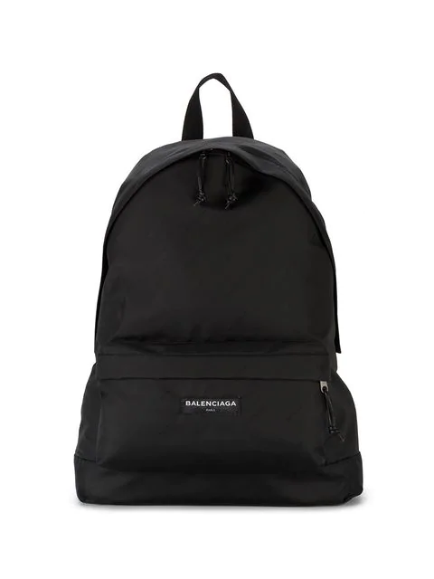 e622cd4a4e03 Balenciaga Explorer Logo-Embroidered Canvas Backpack - Black - One ...