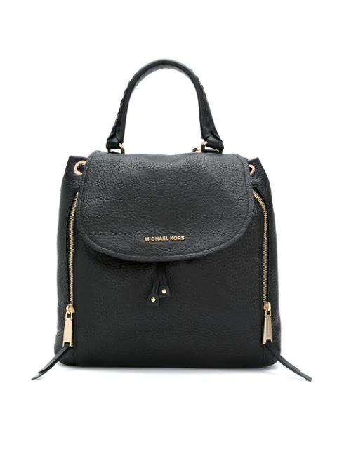 Michael Michael Kors Viv Large Leather Backpack In Black
