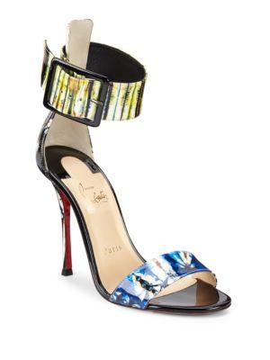 free shipping 8db30 d9324 Blade Runana Patent Leather Slingbacks in Black Multi