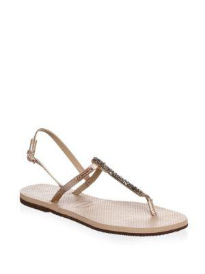 af90c8642 Havaianas You Riviera Crystal Sandals In Rose Gold