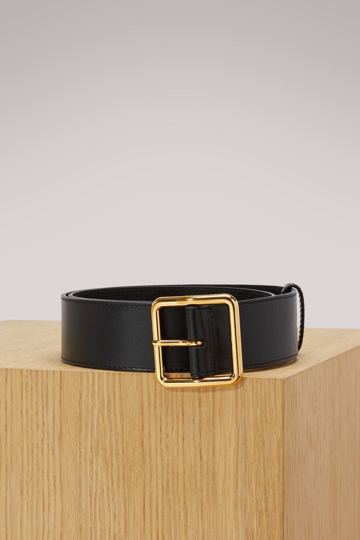 Alexander Mcqueen Leather Belt In 1000 - Black