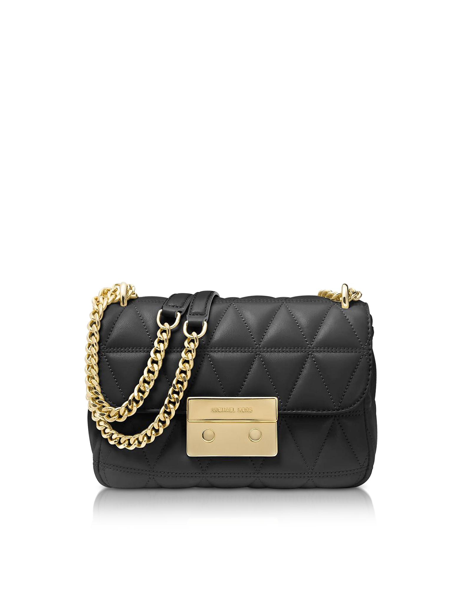 02cdfc0cda91 Michael Kors Sloan Small Black Quilted Leather Shoulder Bag | ModeSens