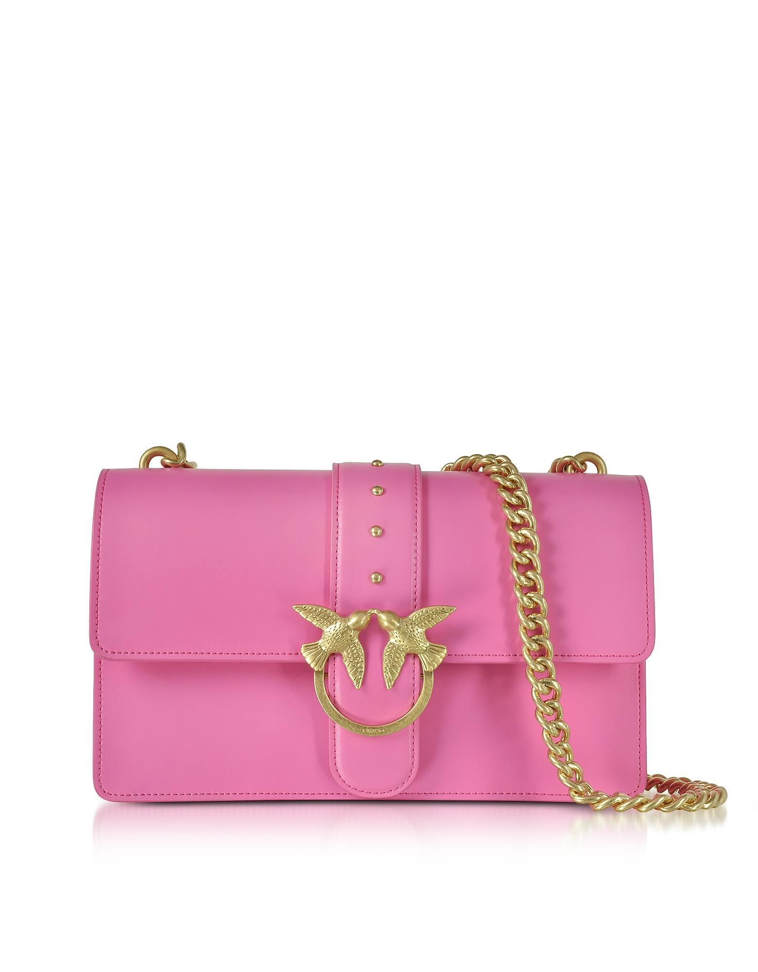 cf972e5b863 Pinko Love Simply 2 Fuchsia Eco Leather Shoulder Bag In Pink | ModeSens