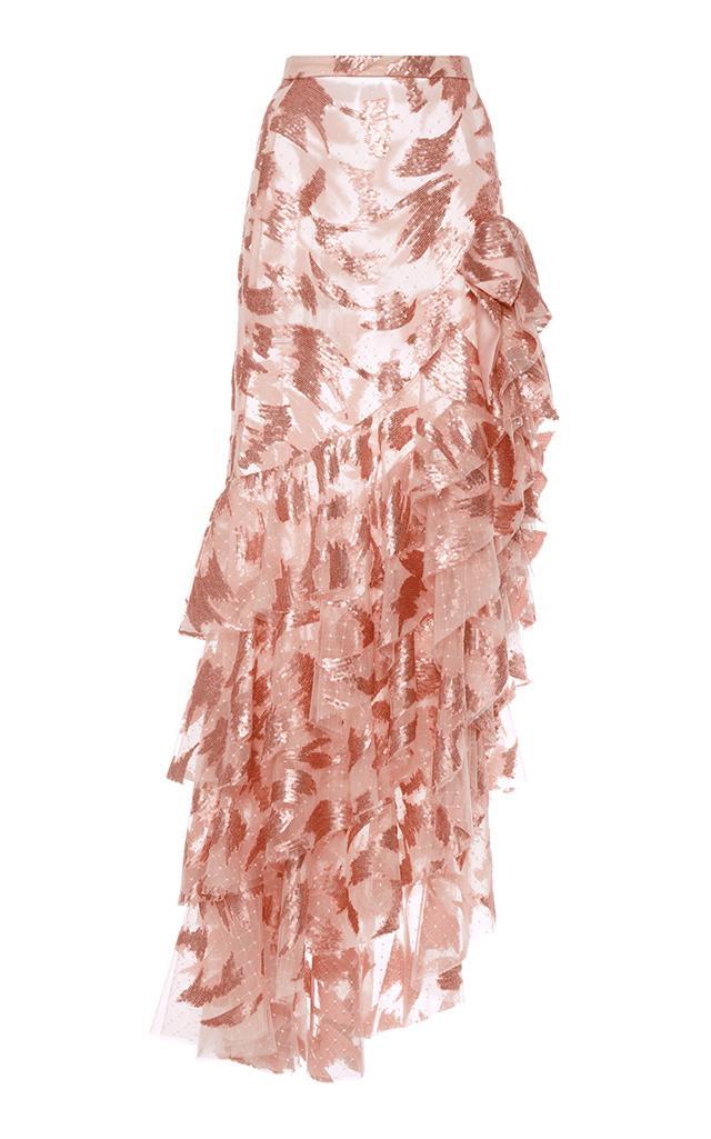 9874486a11 Rodarte Ruffled Skirt With Bow Detail In Light Pink | ModeSens