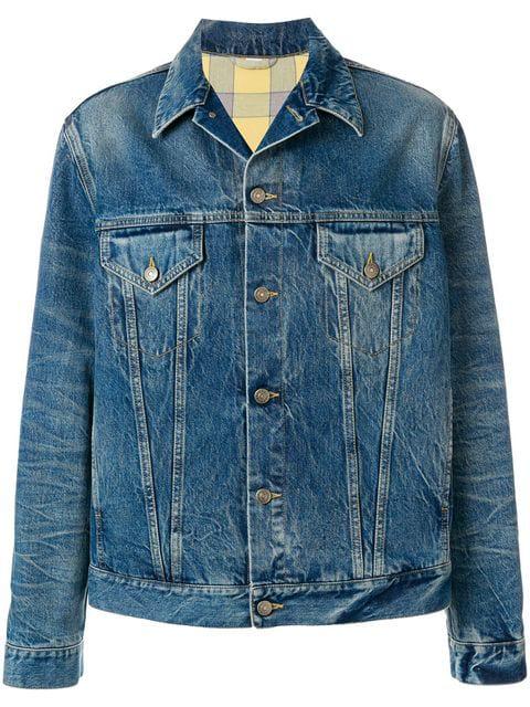 eaec4e93f Gucci Laveugle Par Amour Denim Cotton Jacket In Blue   ModeSens