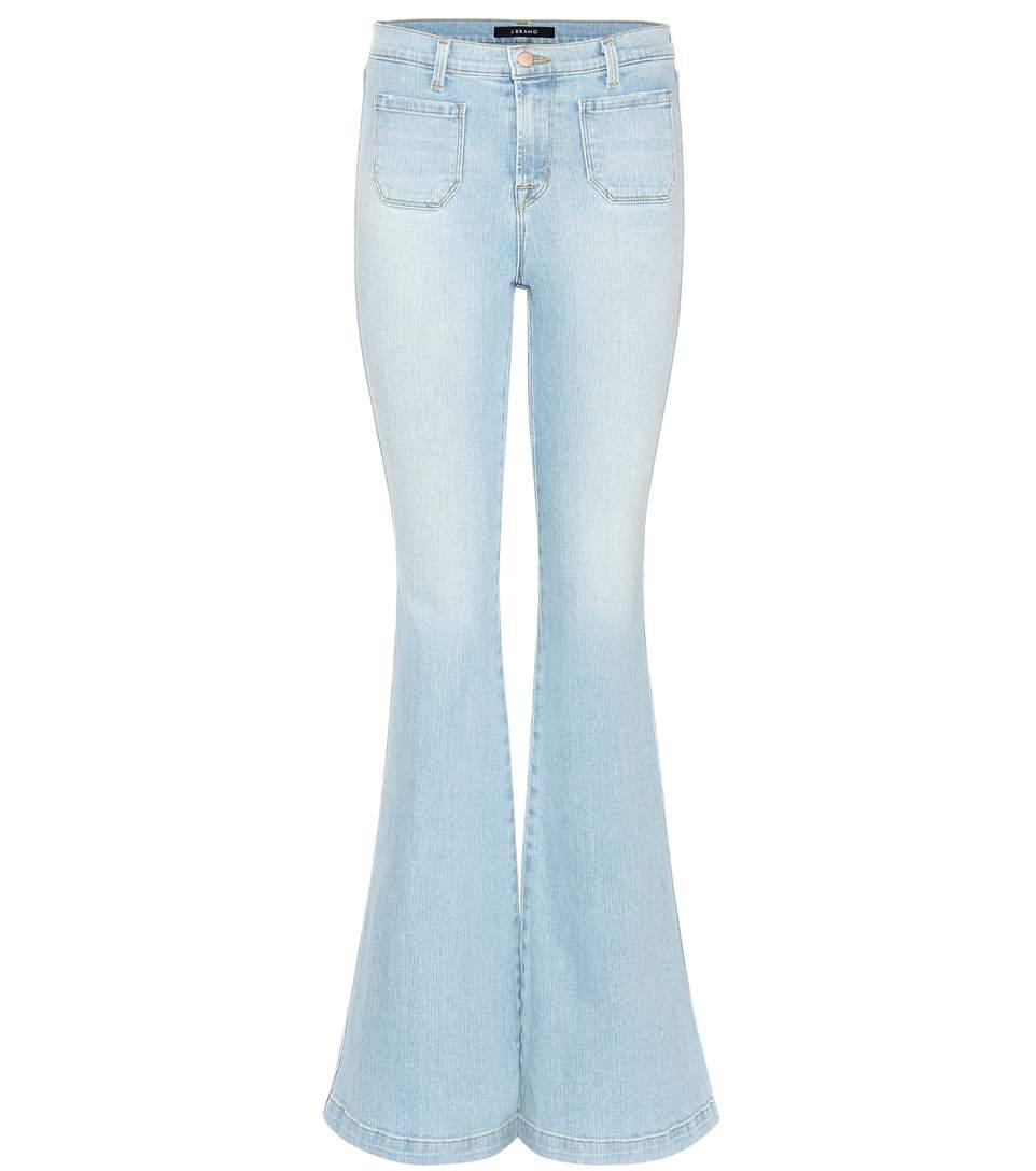 J Brand Beach Line High-rise Flared Jeans In Leach Liee