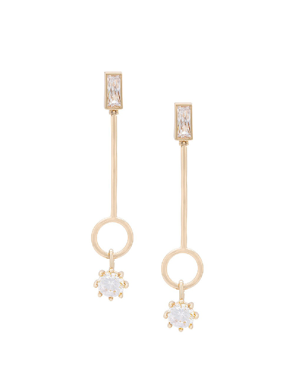 Eddie Borgo Gold Baguette Estate Line Earrings