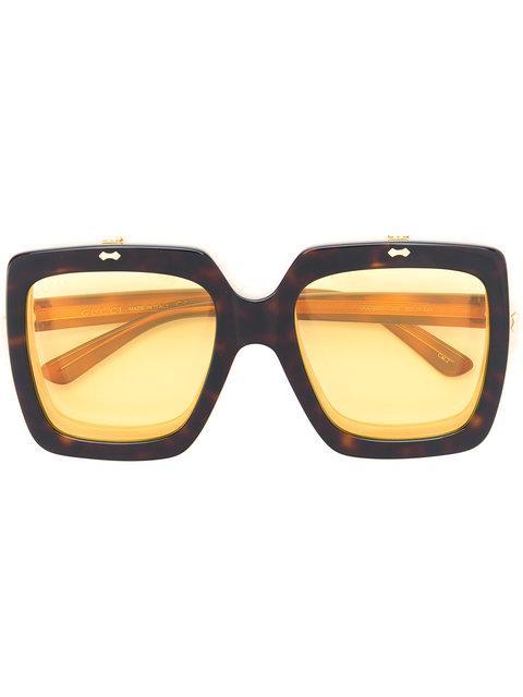 Gucci Oversized Drop Lens Sunglasses