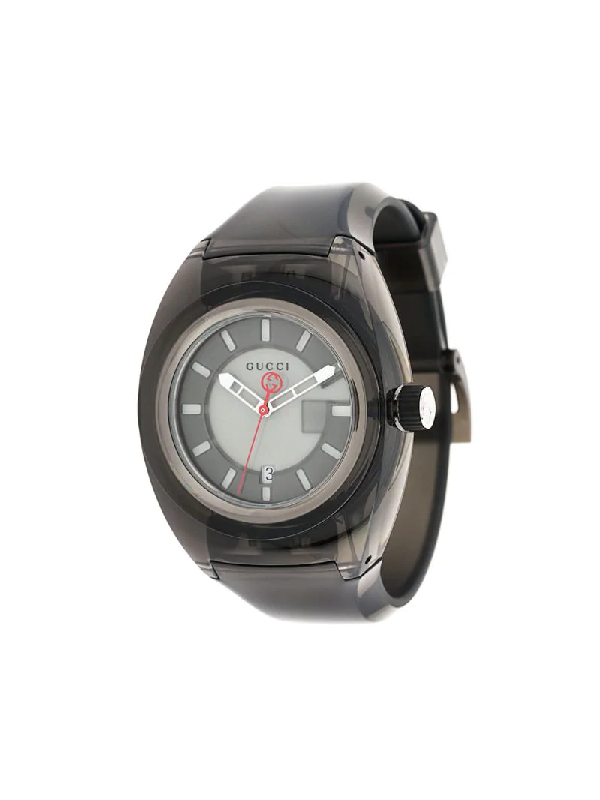 Gucci Sync Rubber Watch In Black