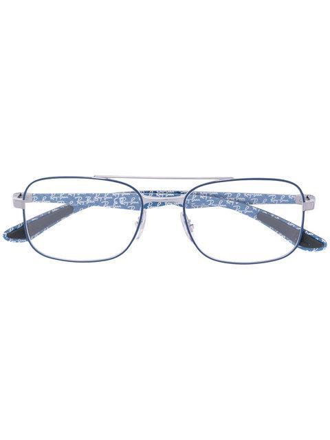 Ray Ban Thin Frame Rectangle Glasses