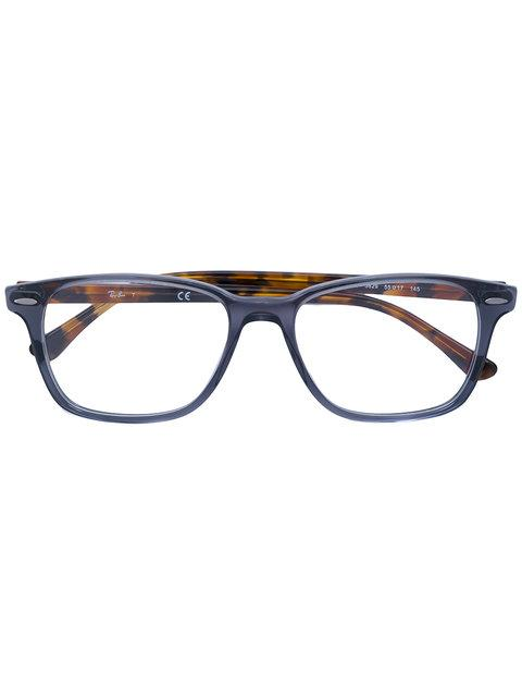 Ray Ban Ray-ban Two-tone Squared Glasses - Grey