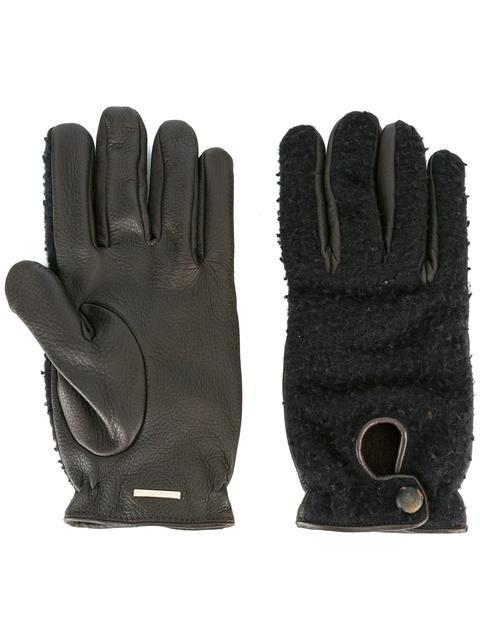 Lardini Panelled Gloves - Blue