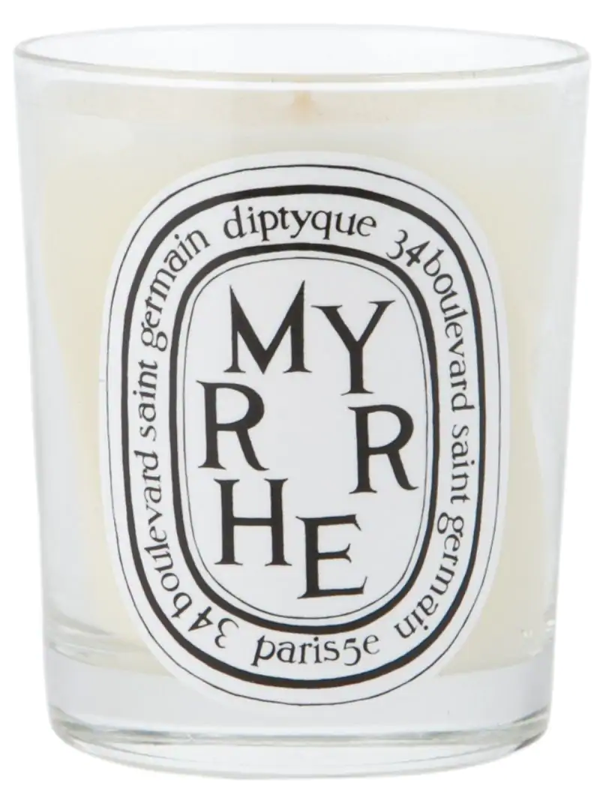 Diptyque 'myrrhe' Candle In White