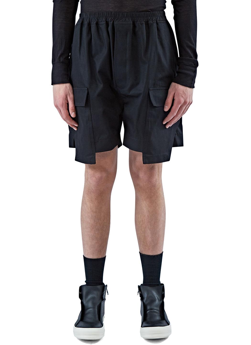 Rick Owens Men's Cargo Boxer Shorts In Black In Nero