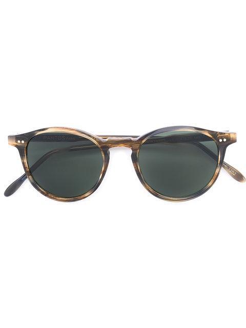 Pantos Paris Round Frame Sunglasses