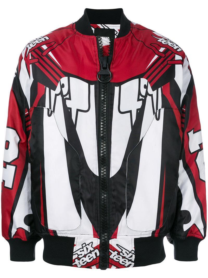 Ktz Motocross Bomber Jacket - Red