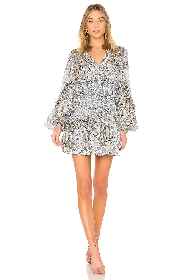 8ccb51494d7 Alexis Leannie Ruffle Long-Sleeve Mini Dress In Blue