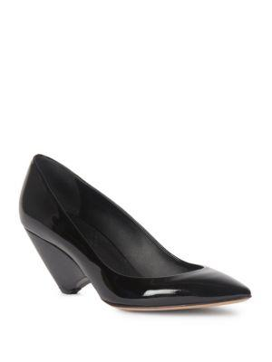 Maison Margiela Patent Leather Cone Heel Pumps In Black
