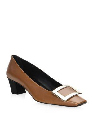 Tod's Belle Vivier Leather Pumps In Brown