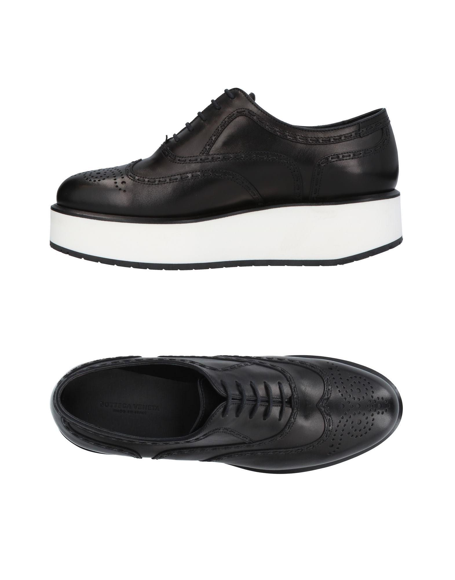 Bottega Veneta Lace-Up Shoes In Black