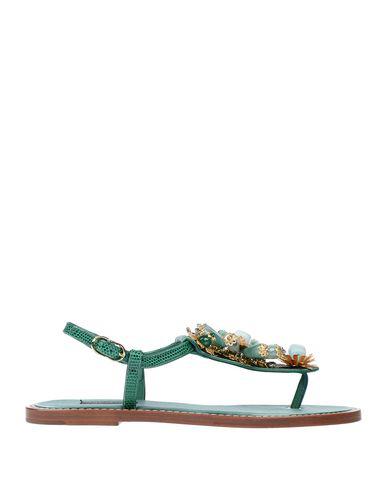 Dolce & Gabbana Flip Flops In Green