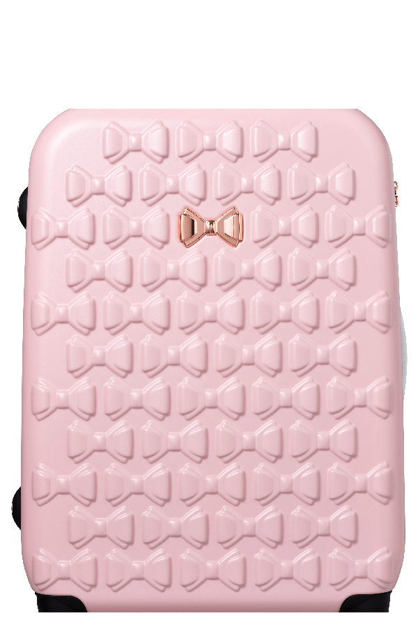 a8243e7958ee Ted Baker Large Beau Bow Embossed Four-Wheel 31-Inch Trolley Suitcase - Pink