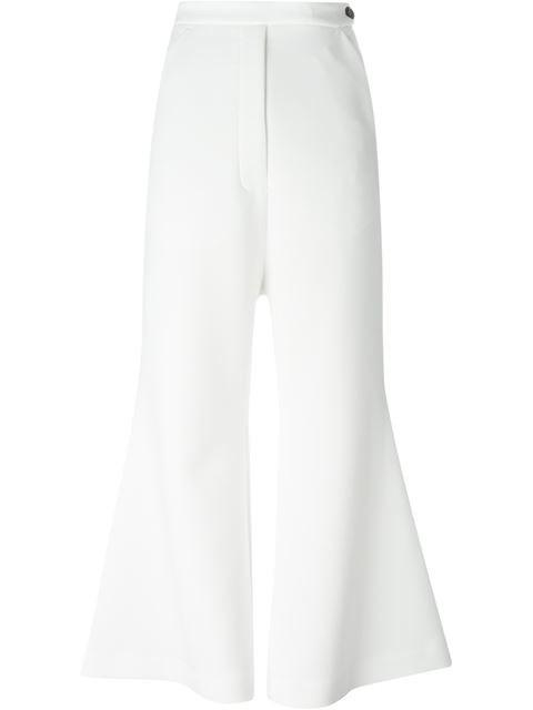 Ellery Cropped Culottes In White