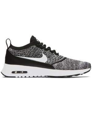 4265a9be9adb Nike Women s Air Max Thea Ultra Flyknit Running Sneakers From Finish Line  In Black White