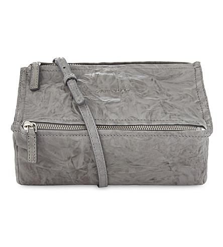 ad536d6c841 Givenchy Mini Pandora Washed Leather Shoulder Bag In Grey | ModeSens