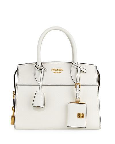 ec858486c13621 Prada Esplanade Small City Satchel Bag In White | ModeSens