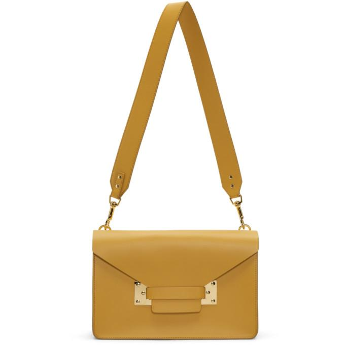 Sophie Hulme Yellow Mini Milner Crossbody Bag In Dark Butter