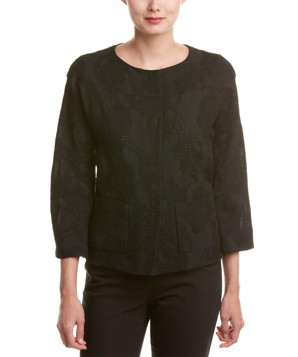 Escada Silk-Blend Jacket In Black