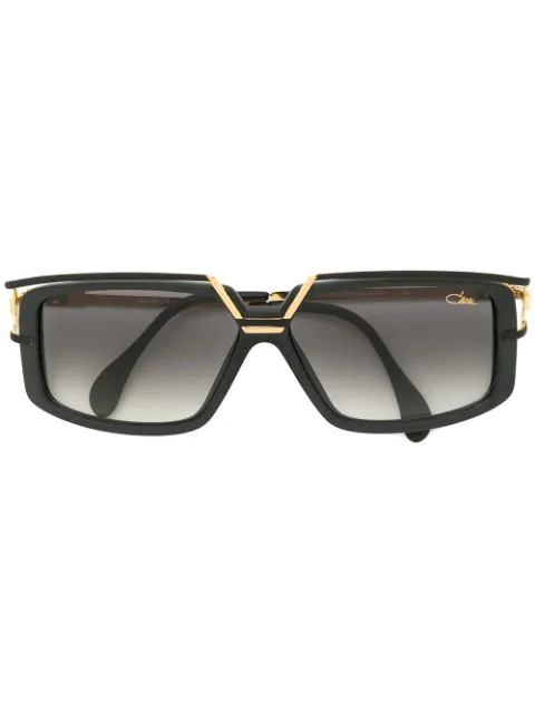 Cazal Square Frame Sunglasses In Black