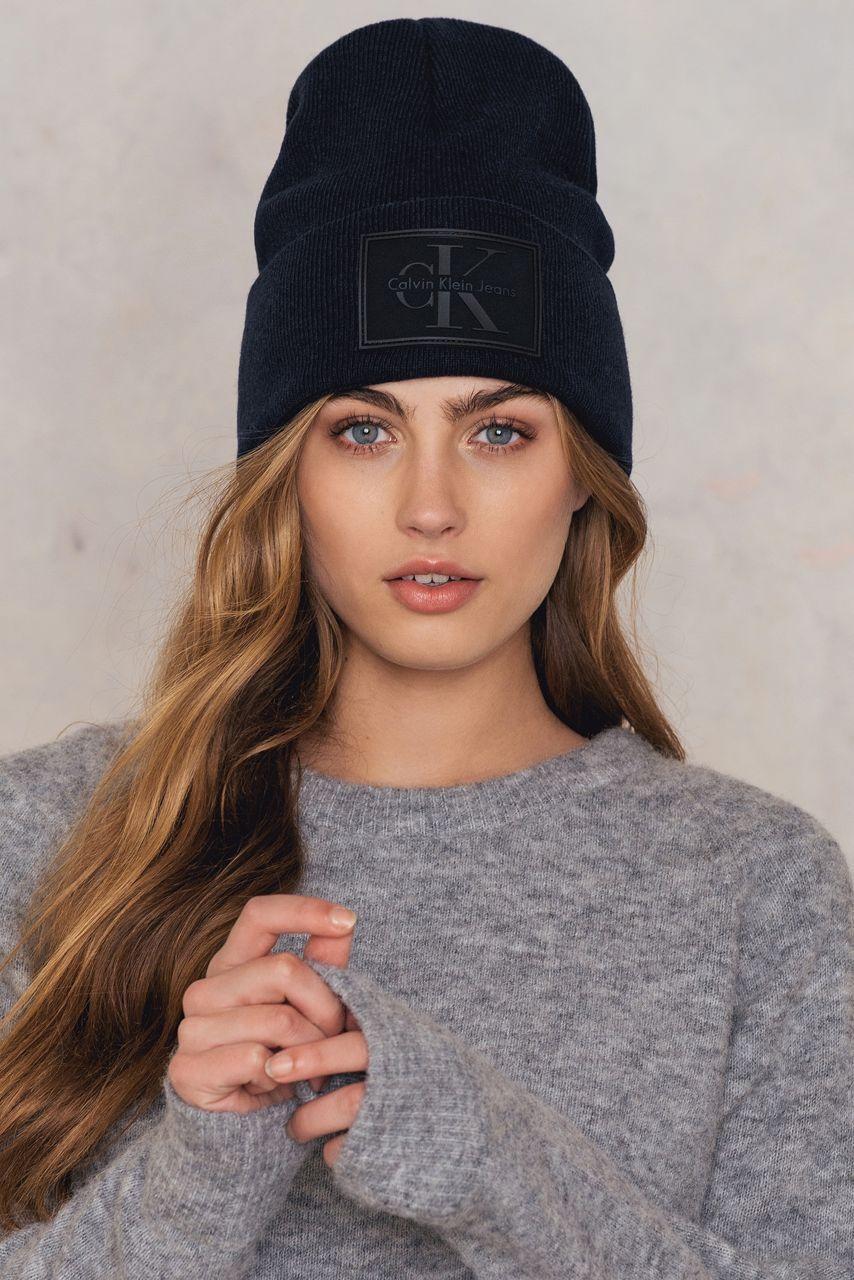 fe1c16d82c7 Calvin Klein Re-Issue Beanie - Black
